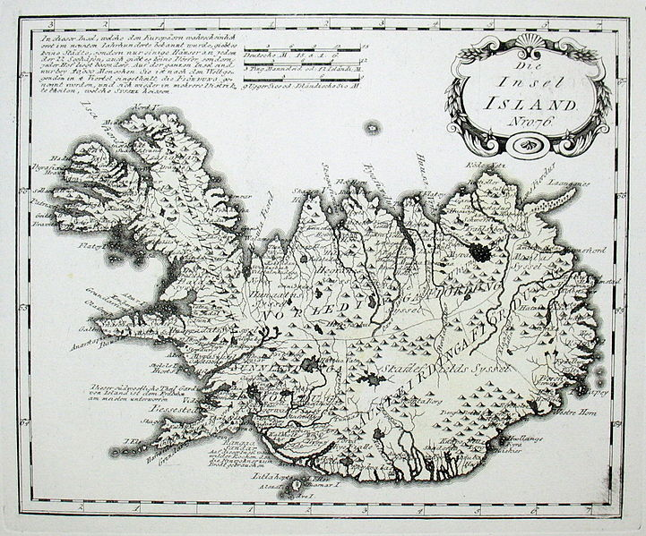 Map of Iceland in 1791 by Reilly 076